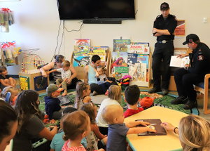 Firefighters storytelling
