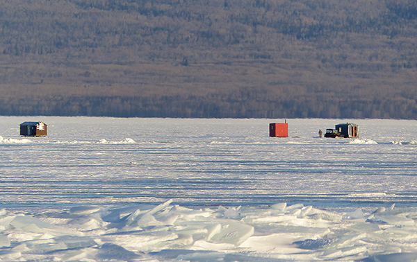 Lots of social distancing opportunities in ice fishing