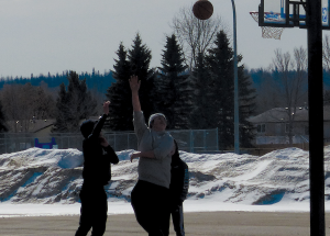 Nice day for a bit of basketball