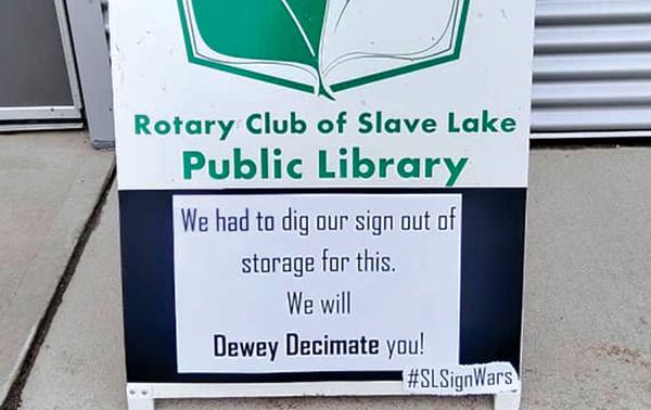 Sign wars!