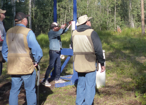 Shooters destroy clay targets in support of Victim Services